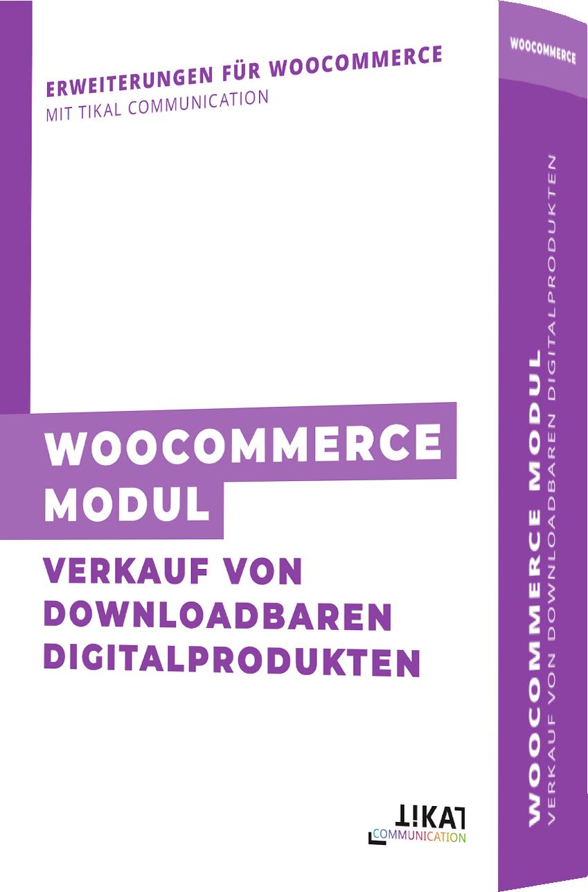 WooCommerce Modul: Verkauf von downloadbaren Digitalprodukten