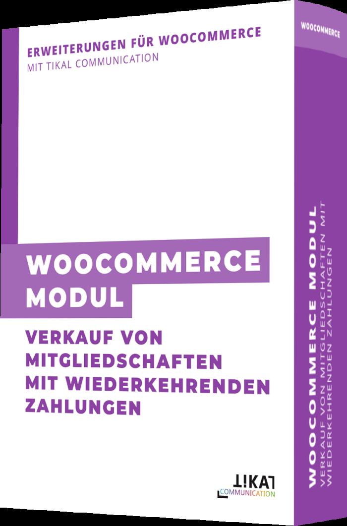 WooCommerce Modul: Verkauf von Mitgliedschaften mit wiederkehrenden Zahlungen