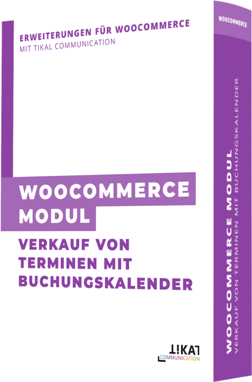 WooCommerce Modul: Verkauf von Terminen mit Buchungskalender