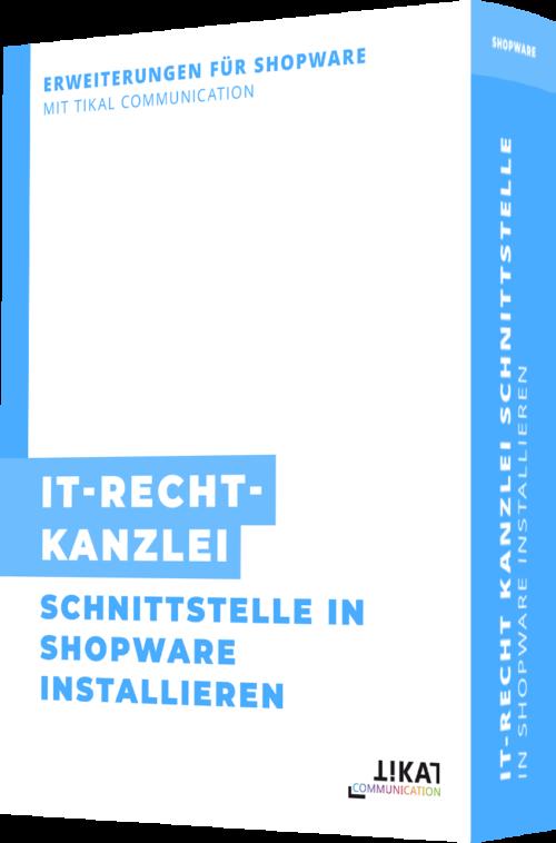 IT-Recht Kanzlei Schnittstelle in Shopware installieren